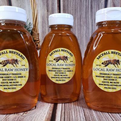 McFall Beeyard Local Raw Honey (3 pack) premium local raw honey Ferndale WA washington