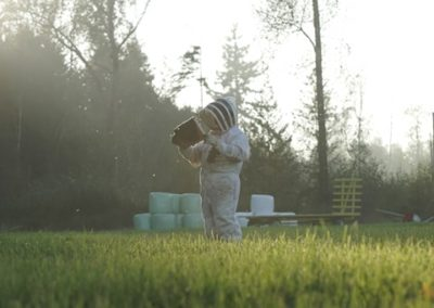Beekeeper Ted Mcfall cultivates Local Natural Organic Honey